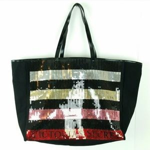 NEW Victoria's Secret LE Sequin Bag Tote